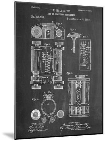 First Computer Patent 1889--Mounted Art Print