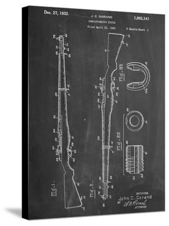 Semi Automatic Rifle Patent--Stretched Canvas Print