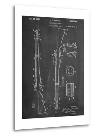 Semi Automatic Rifle Patent--Metal Print