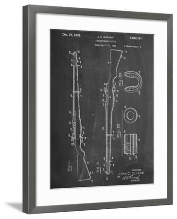 Semi Automatic Rifle Patent--Framed Art Print