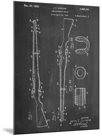 Semi Automatic Rifle Patent--Mounted Art Print