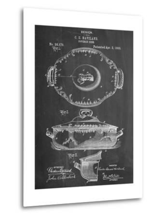 Serving Dish Patent--Metal Print