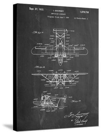 Sikorsky Amphibian Aircraft 1929 Patent--Stretched Canvas Print