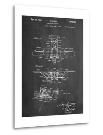 Sikorsky Amphibian Aircraft 1929 Patent--Metal Print