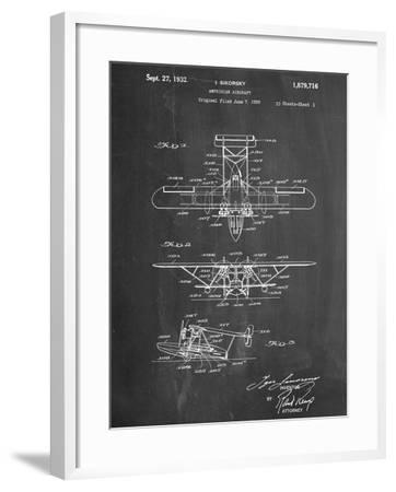 Sikorsky Amphibian Aircraft 1929 Patent--Framed Art Print