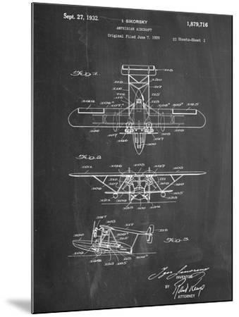 Sikorsky Amphibian Aircraft 1929 Patent--Mounted Art Print