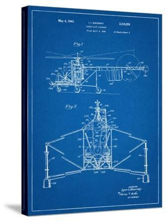 Sikorsky Helicopter Patent--Stretched Canvas Print