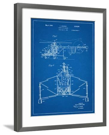Sikorsky Helicopter Patent--Framed Art Print