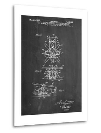 Sikorsky Helicopter Patent--Metal Print