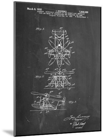 Sikorsky Helicopter Patent--Mounted Art Print