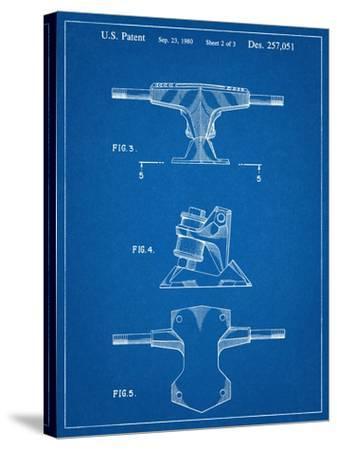 Skateboard Trucks Patent--Stretched Canvas Print