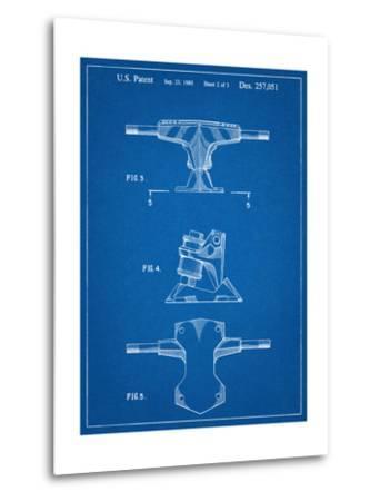 Skateboard Trucks Patent--Metal Print