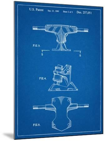 Skateboard Trucks Patent--Mounted Art Print