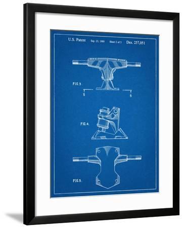 Skateboard Trucks Patent--Framed Art Print