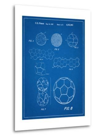 Soccer Ball Patent--Metal Print