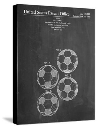 Soccer Ball Patent--Stretched Canvas Print