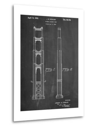 Golden Gate Bridge Patent--Metal Print