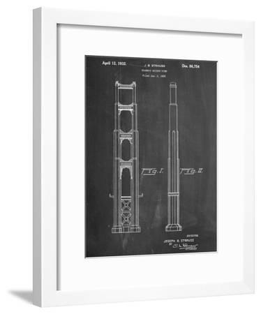 Golden Gate Bridge Patent--Framed Art Print