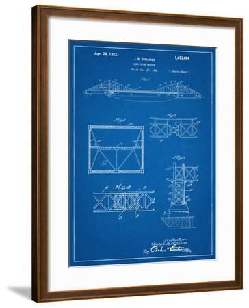 Golden Gate Bridge Patent, Long Span Bridge--Framed Art Print