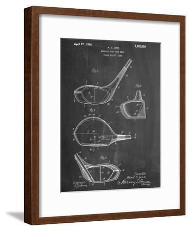 Golf Club Driver Patent--Framed Premium Giclee Print
