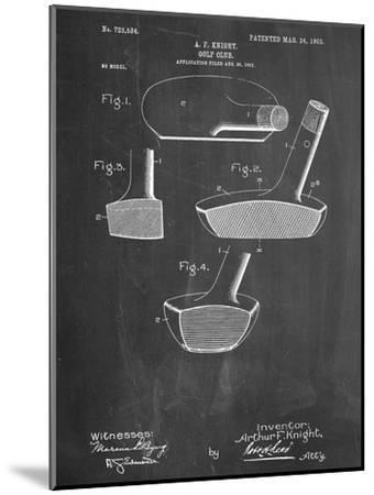 Golf Club Putter Patent--Mounted Premium Giclee Print
