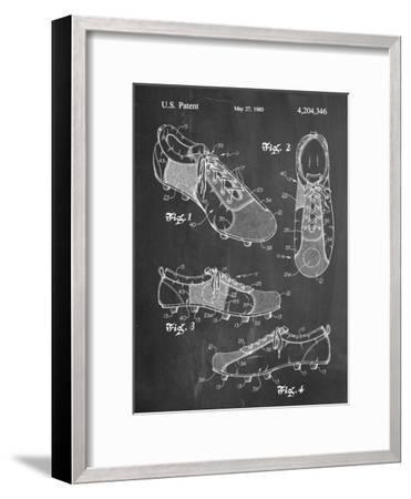 Soccer Shoes Patent--Framed Art Print