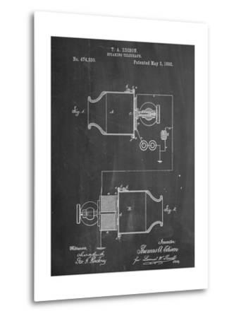 Speaking Telegraph Patent--Metal Print