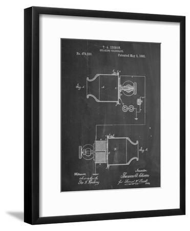 Speaking Telegraph Patent--Framed Art Print