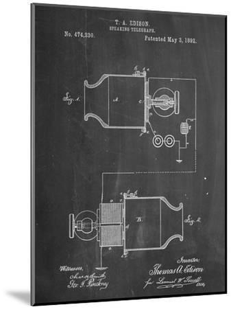 Speaking Telegraph Patent--Mounted Art Print