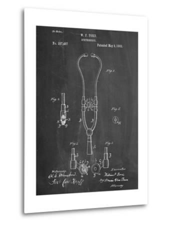 Stethoscope Patent--Metal Print