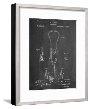 Stethoscope Patent--Framed Art Print