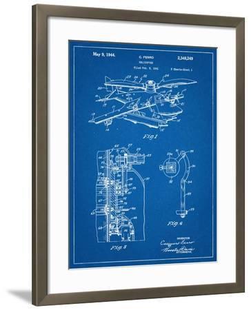Helicopter Patent--Framed Art Print