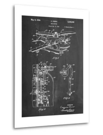 Helicopter Patent--Metal Print
