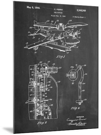 Helicopter Patent--Mounted Art Print
