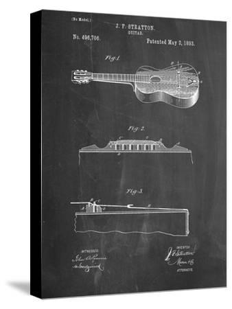 Acoustic Guitar Patent--Stretched Canvas Print