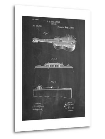 Acoustic Guitar Patent--Metal Print
