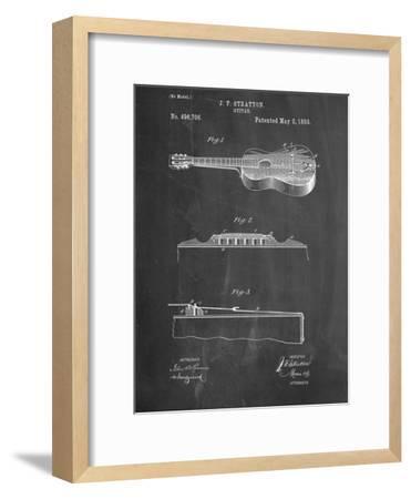 Acoustic Guitar Patent--Framed Art Print