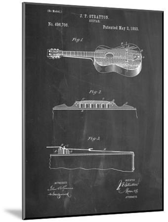 Acoustic Guitar Patent--Mounted Art Print