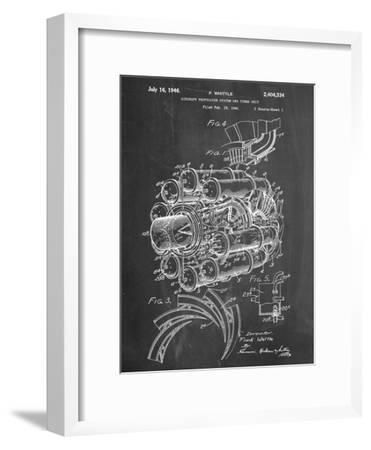 Aircraft Rocket Patent--Framed Art Print