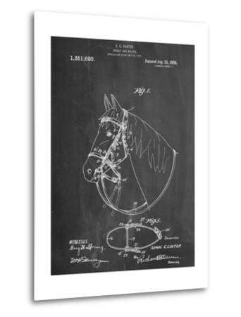 Horse Bridle Patent--Metal Print