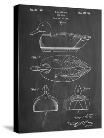 Hunting Duck Decoy Patent--Stretched Canvas Print