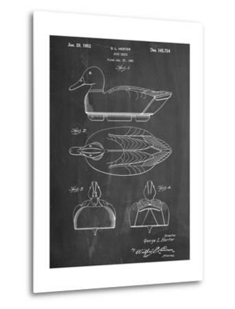 Hunting Duck Decoy Patent--Metal Print