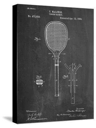 Tennis Racket Patent--Stretched Canvas Print