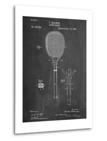Tennis Racket Patent--Metal Print