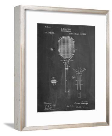 Tennis Racket Patent--Framed Art Print
