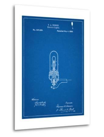 Thomas Edison Light Bulb Patent--Metal Print