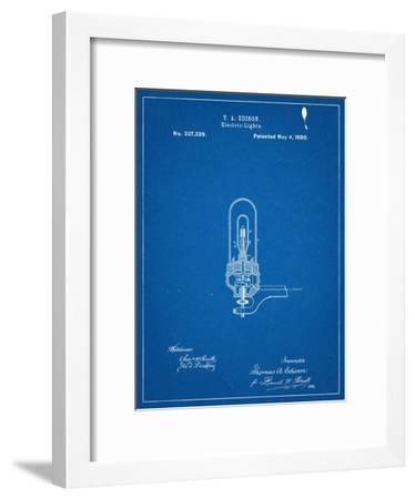 Thomas Edison Light Bulb Patent--Framed Art Print