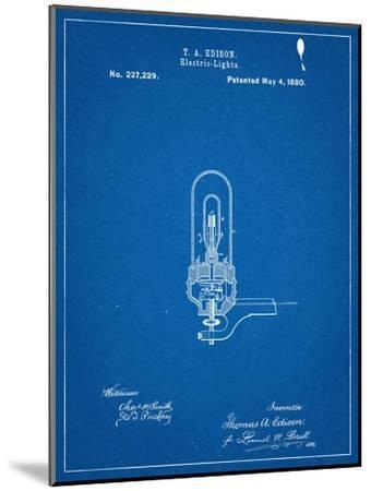 Thomas Edison Light Bulb Patent--Mounted Art Print
