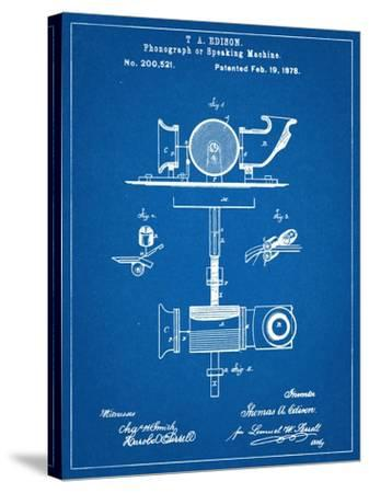 Thomas Edison Speaking Telegraph Patent--Stretched Canvas Print