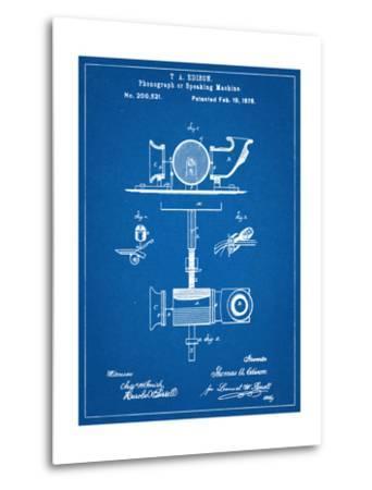 Thomas Edison Speaking Telegraph Patent--Metal Print